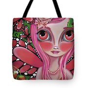 Strawberry Butterfly Fairy Tote Bag