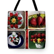 Strawberry Collage Tote Bag