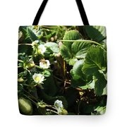 Strawberry Flower And Bee Tote Bag