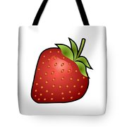 Strawberry Fruit Outlined Tote Bag