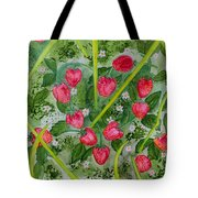 Strawberry Love Patch Tote Bag