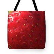 Strawberry Macro Tote Bag
