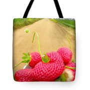 Strawberry Road Tote Bag