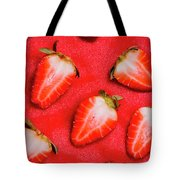 Strawberry Slice Food Still Life Tote Bag