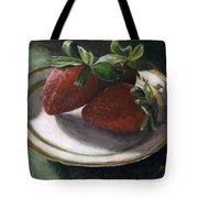 Strawberry Still Life Tote Bag