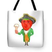 Strawberry Tricorn Hat Ice Cream Victorian Gentleman Watercolor Tote Bag