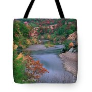 Stream And Fall Color In Central California Tote Bag