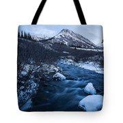 Mountain Stream In Twilight Tote Bag