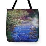 Stream At Yosemite Tote Bag