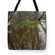Stream Entering Mississippi River Tote Bag