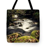 Stream In Lapland Finland Tote Bag
