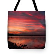 Streaming Sunset Tote Bag