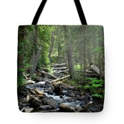 Streaming Through The Trees Tote Bag