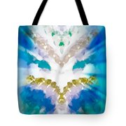 Streams Of Light In Turquoise Tote Bag