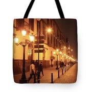 Street At Night, Lima Peru Tote Bag