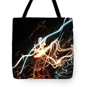 Street Busy At Night  Abstract Tote Bag