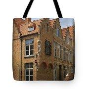 Street Corner In Bruges Belgium Tote Bag