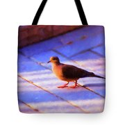 Street Dove Tote Bag