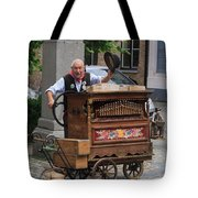 Street Entertainer In Bruges Belgium Tote Bag
