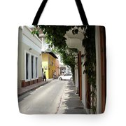 Street In Colombia Tote Bag