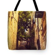 Street In Dubrovnik Old Town Tote Bag