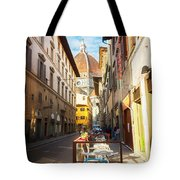 Street In Florence Tote Bag