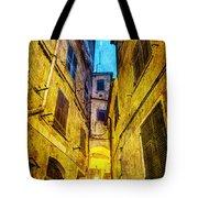 Street In Vernazza - Vintage Version Tote Bag