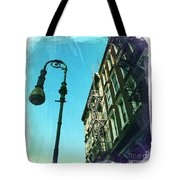 Street Lamp And Fire Escape Tote Bag
