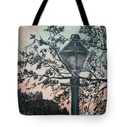 Street Lamp Historic Vintage Art Print Tote Bag