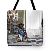 Street Music, Lisboa Tote Bag by Lorraine Devon Wilke