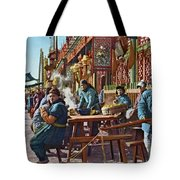 Street Life Of Peking, 1921 Tote Bag