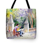 Street Musician In Pollenca Tote Bag
