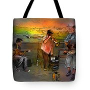 Street Musicians In Prague In The Czech Republic 03 Tote Bag