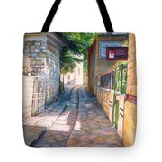 Street Of Artists Tote Bag