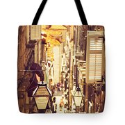 Street Of Dubrovnik Old Town Tote Bag