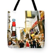 Street Of New York City Tote Bag