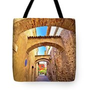 Street Of Sirmione Historic Architecture View Tote Bag