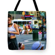 Street Photography Nyc Paint  Tote Bag