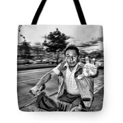 Unknown Bicycle Rider Tote Bag