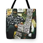 Street Preacher On The A Train Tote Bag
