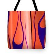 Street Rod Design In Orange And Blue Tote Bag