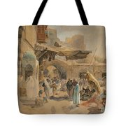 Street Scene In Jaffa Tote Bag