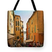 Street Scene In Villefranche Tote Bag