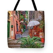 Street Scene Monterosso Italy Dsc02470 Tote Bag
