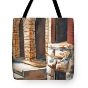 Street Scene Oil Painting Tote Bag
