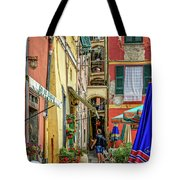 Street Scene Vernazza Italy Dsc02651 Tote Bag