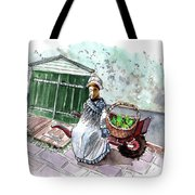 Street Seller In Helsingor Tote Bag