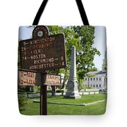 Street Sign In Fitzwilliam, New Hampshire Tote Bag