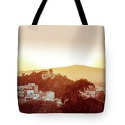 Street View Of Old Buildings In Athens, Greece Tote Bag