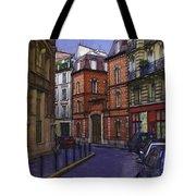 Street View Of Paris Tote Bag
